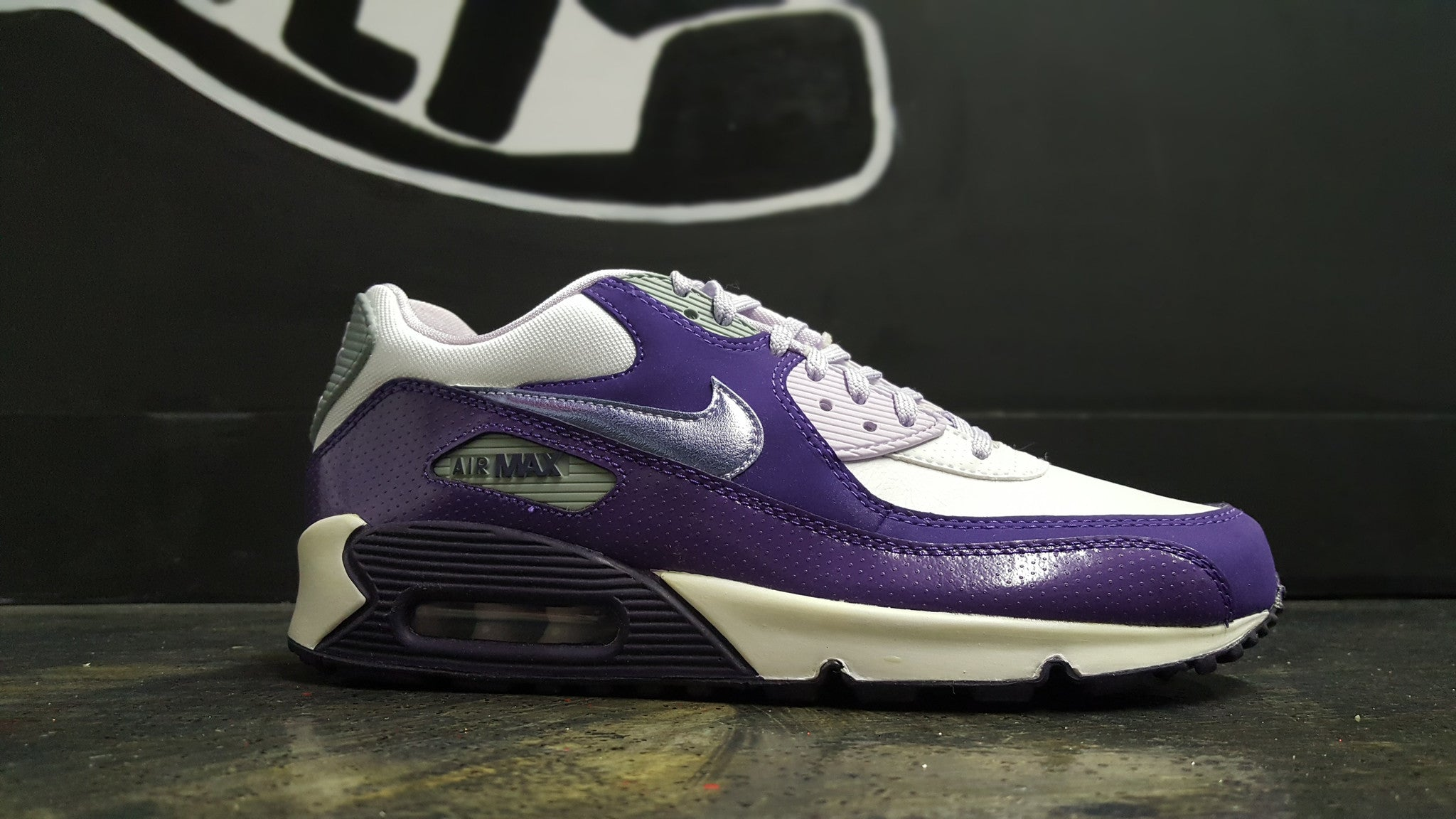 "Nike Air Max 90 2007 ""White/Purple"" (GS)"