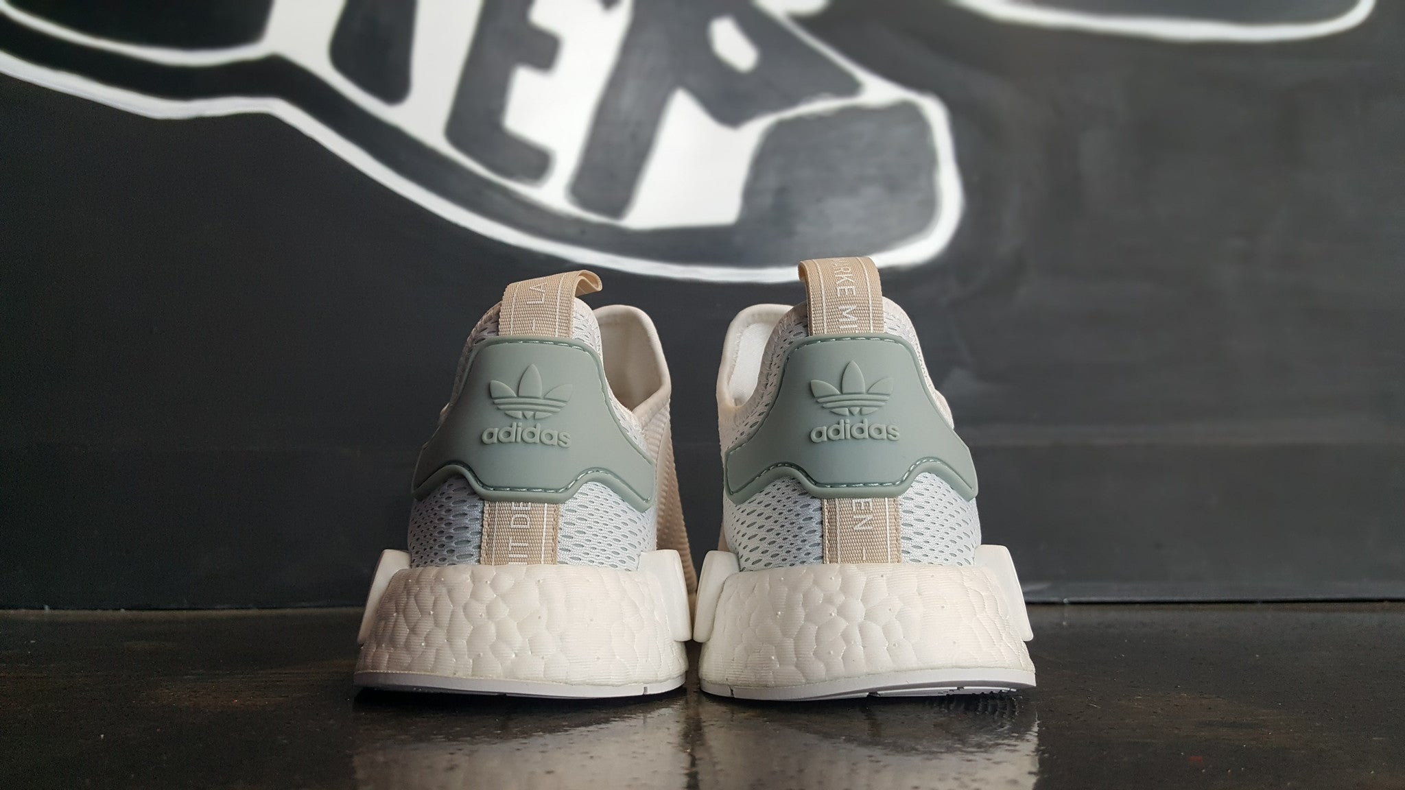 "Women's Adidas NMD R1 ""White/Tactile Green"""