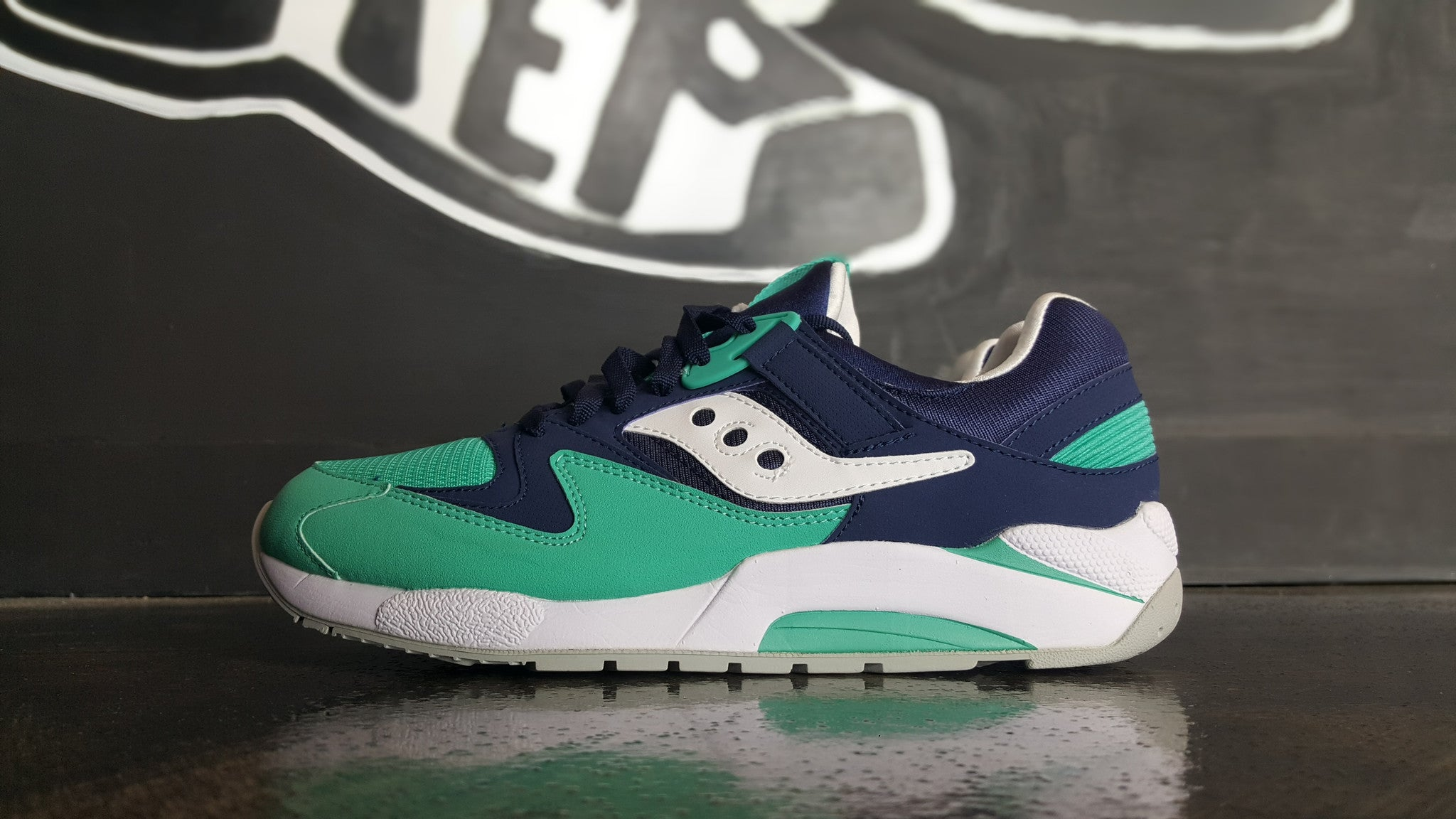 "Saucony Grid 9000 ""Navy Blue/Green"""