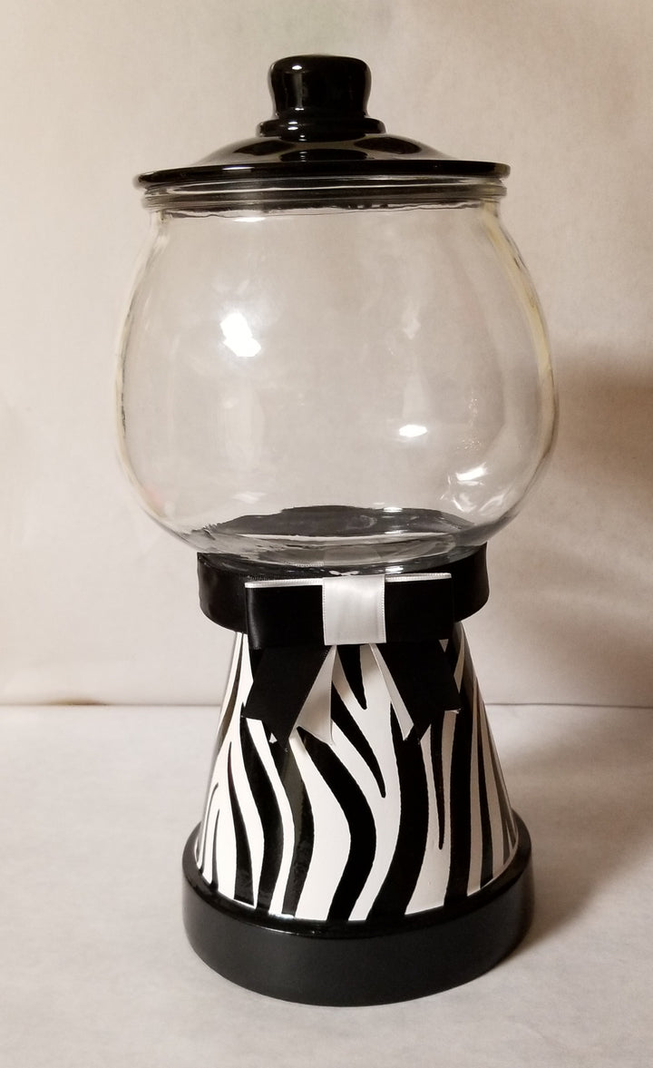 Zebra Print Cookie/Candy Jar