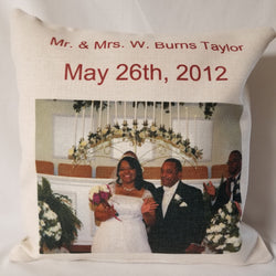 15 x 15 Personalized Pillow Case w/o  Insert