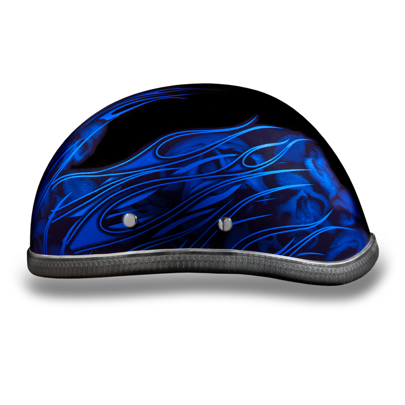 Eagle- W/ Multi Skull Flames Blue