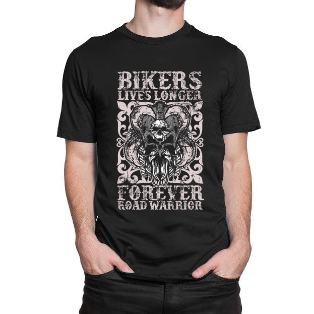 Lives Longer Forever Road Warrior T-Shirt