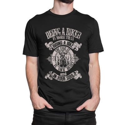 Being A Biker Is More Than Riding A Bike You Feel It In Your Heart And In Your Soul T-Shirt