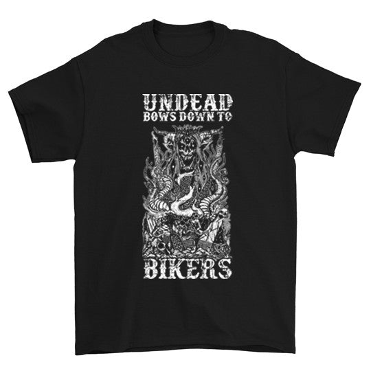 Undead Bows Down To Bikers T-Shirt