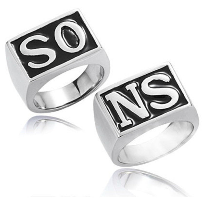 Classic Biker Gear Sons Of Anarchy Rings - 2 Ring Set