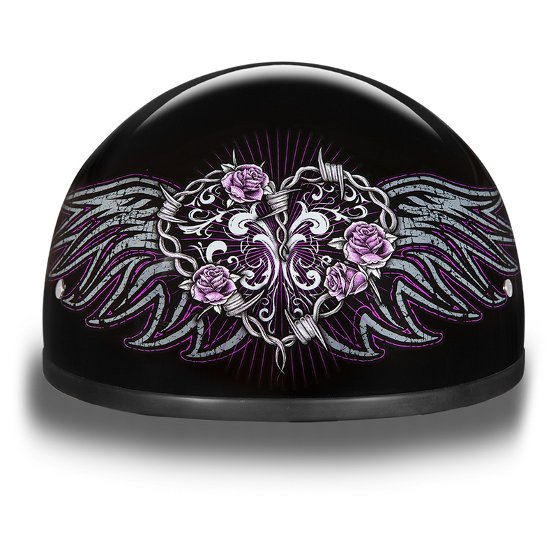 D.O.T. Daytona Skull Cap- W/ Barbed Wire Heart