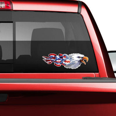 American Bald Eagle Flag Decal