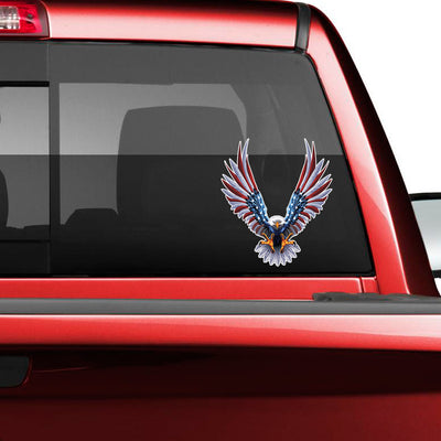 American Eagle Flag Wings Decal