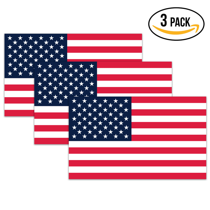 American Flag Decal - 3x5 in. American USA Flag Decal for Cars and Trucks