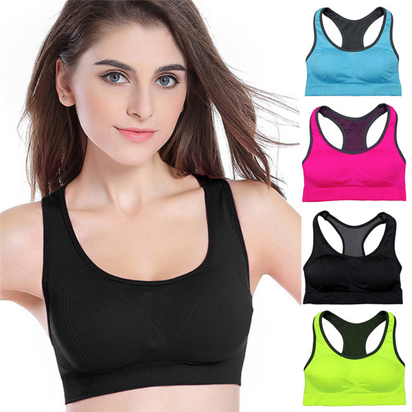 ed5d968582 ... Yoga Fitness Stretch Workout Tank Top Seamless Padded Bra — Sale price   12.99 · Women Sports Bra for Fitness Running and Gym Cross Straps Push Up