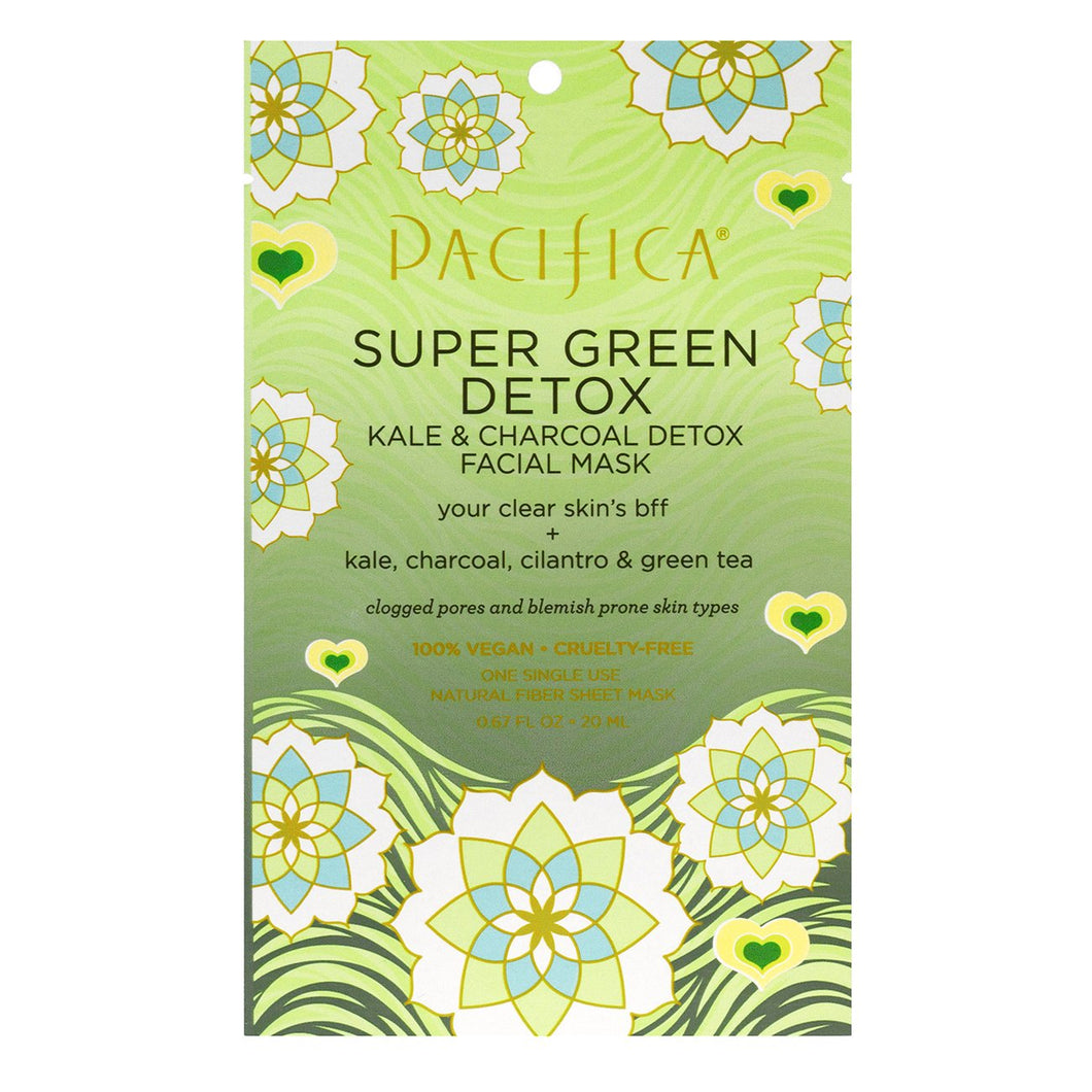 Pacifica - Super Green Detox Kale & Charcoal Detox Facial Mask