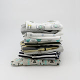 Big boutique baby boy clothing bundle 0-3 months - 5 pajamas, 5 onesies