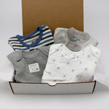 Baby boy clothing bundle 0-3 months - 2 pajamas, 2 onesies