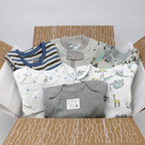 Small boutique baby boy clothing bundle 0-3 months - 3 pajamas, 3 onesies