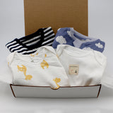Baby boy clothing bundle 3-6 months - 2 pajamas, 2 onesies