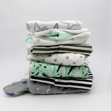 Big boutique baby boy clothing bundle 6-9 months - 5 pajamas, 5 onesies