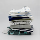 Big boutique baby boy clothing bundle 9-12 months - 5 pajamas, 5 onesies