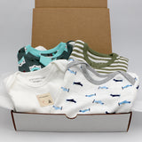 Baby boy clothing bundle 9-12 months - 2 pajamas, 2 onesies