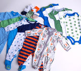 Baby Boy Clothing Subscription - 5 pajamas, 5 onesies, 5 pairs of socks