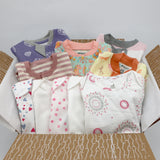 Big boutique baby girl clothing bundle 0-3 months - 5 pajamas, 5 onesies