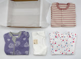 Baby girl clothing bundle 0-3 months - 2 pajamas, 2 onesies