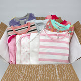 Big boutique baby girl clothing bundle 3-6 months - 5 pajamas, 5 onesies