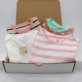 Baby girl clothing bundle 3-6 months - 2 pajamas, 2 onesies