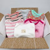 Small boutique baby girl clothing bundle 3-6 months - 3 pajamas, 3 onesies