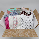 Big boutique baby girl clothing bundle 6-9 months - 5 pajamas, 5 onesies