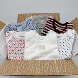 Small boutique baby girl clothing bundle 6-9 months - 3 pajamas, 3 onesies