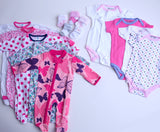 Baby Girl Clothing Subscription - 5 pajamas, 5 onesies, and 5 pairs of socks
