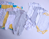 Neutral Baby Clothes Subscription - 5 pajamas, 5 onesies, and 5 pairs of socks
