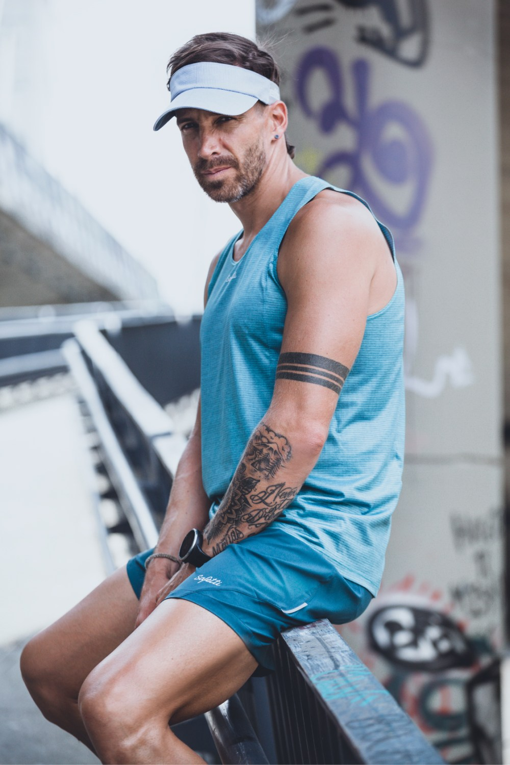 Sunset Running - Unbroken - Sleeveless Running Jersey. Men