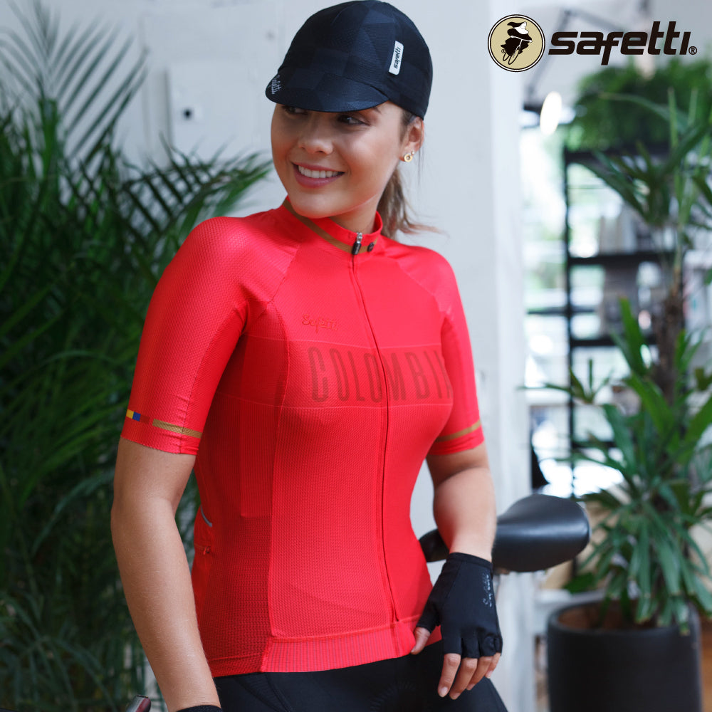 Pre-order Monument II - Colombia Red - Short Sleeve Jersey. Women
