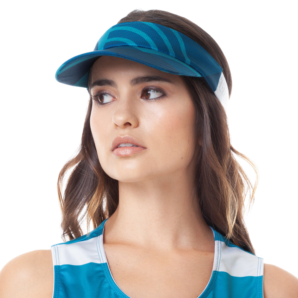 Trascendenza - Ephemeral Blue - Cycling Visor Cap. Women