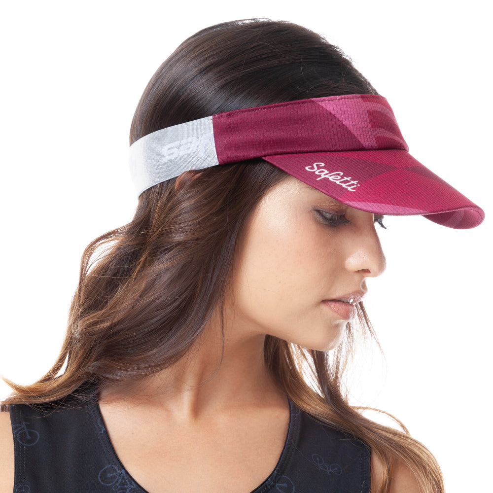 Trascendenza - Ephemeral Red - Cycling Visor Cap. Women