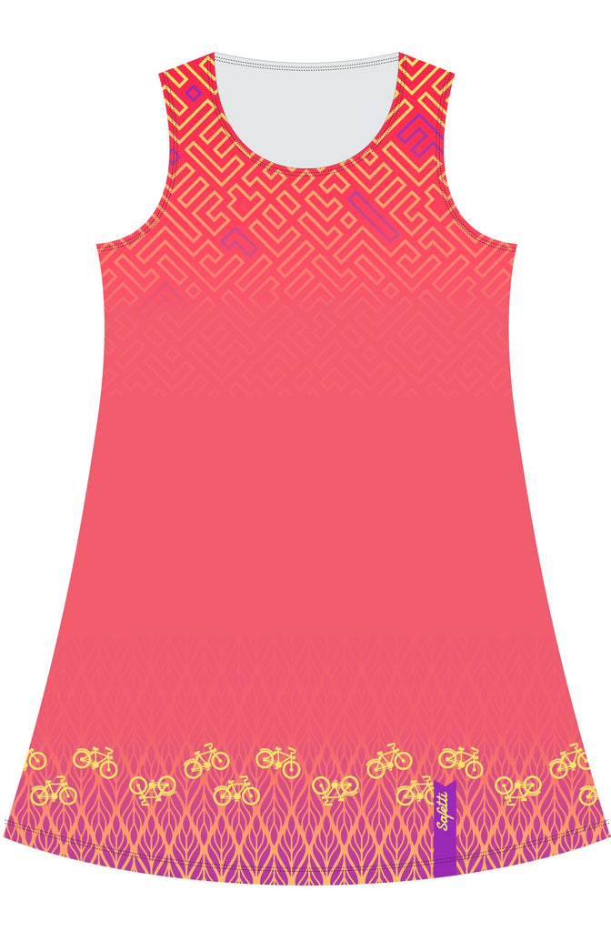 VENEZ -Dress -Coral- Cycling