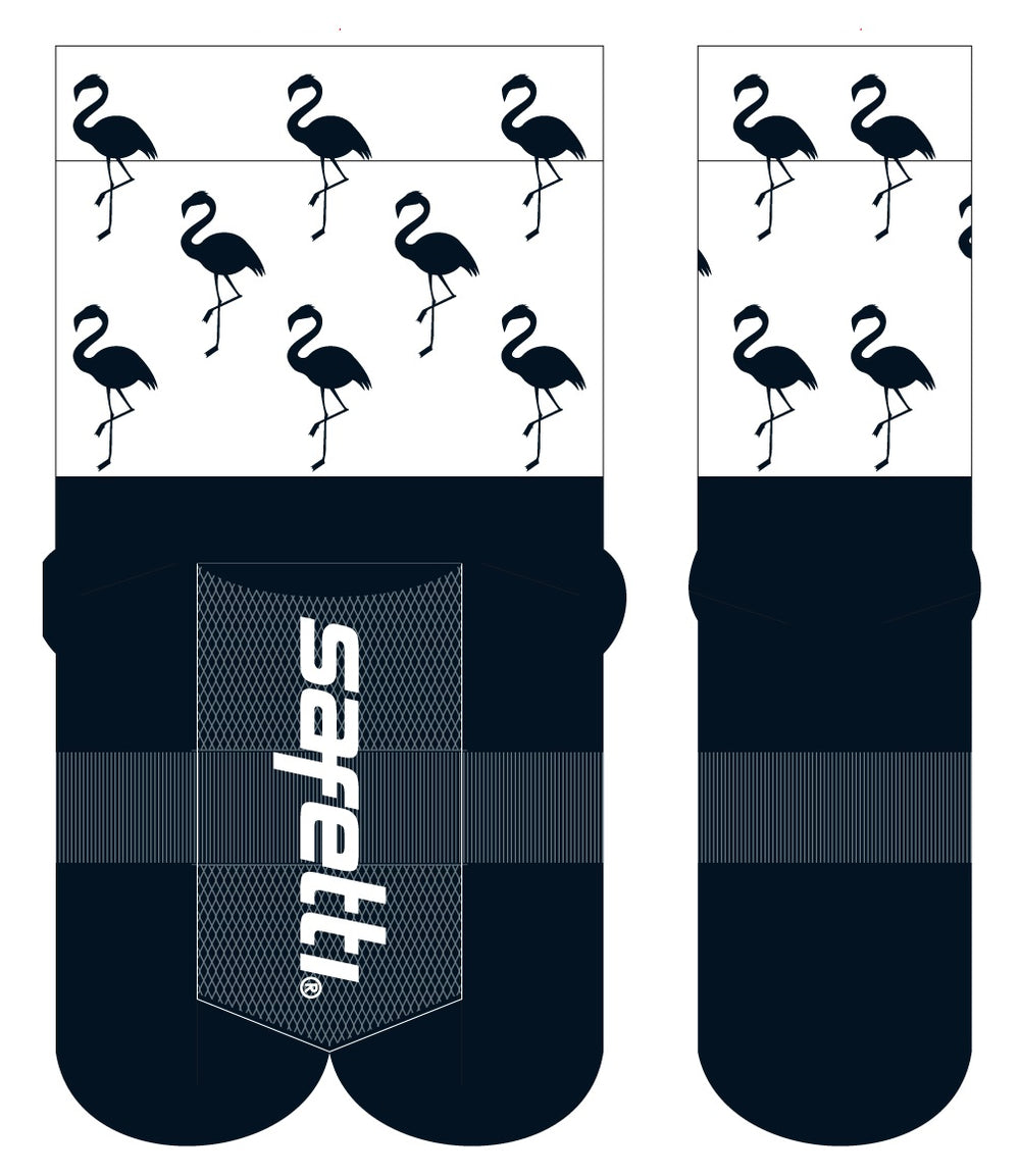 CWA Flamingo Cycling Socks. Unisex