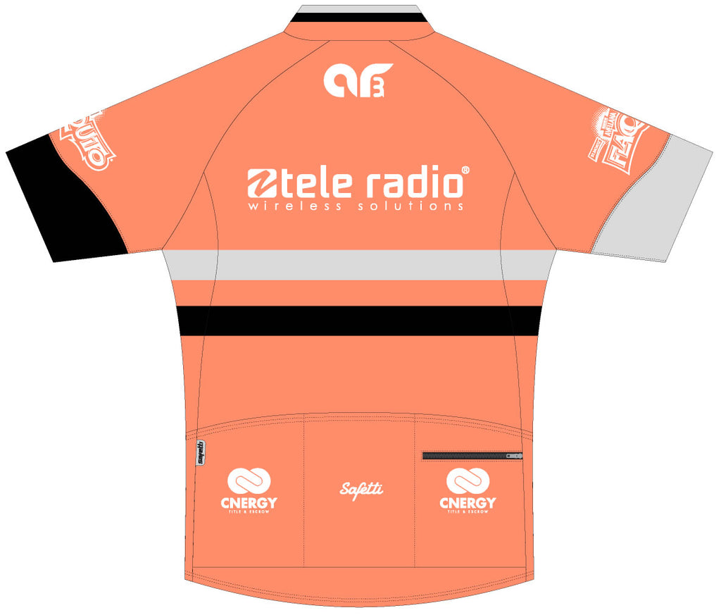 AR3 - Coral Skin Light Short Sleeve Cycling Jersey. Women