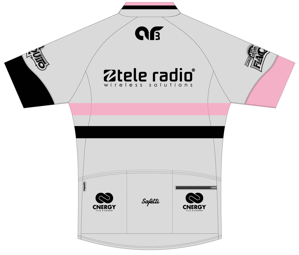 AR3 - Pink Skin Light Short Sleeve Cycling Jersey. Women