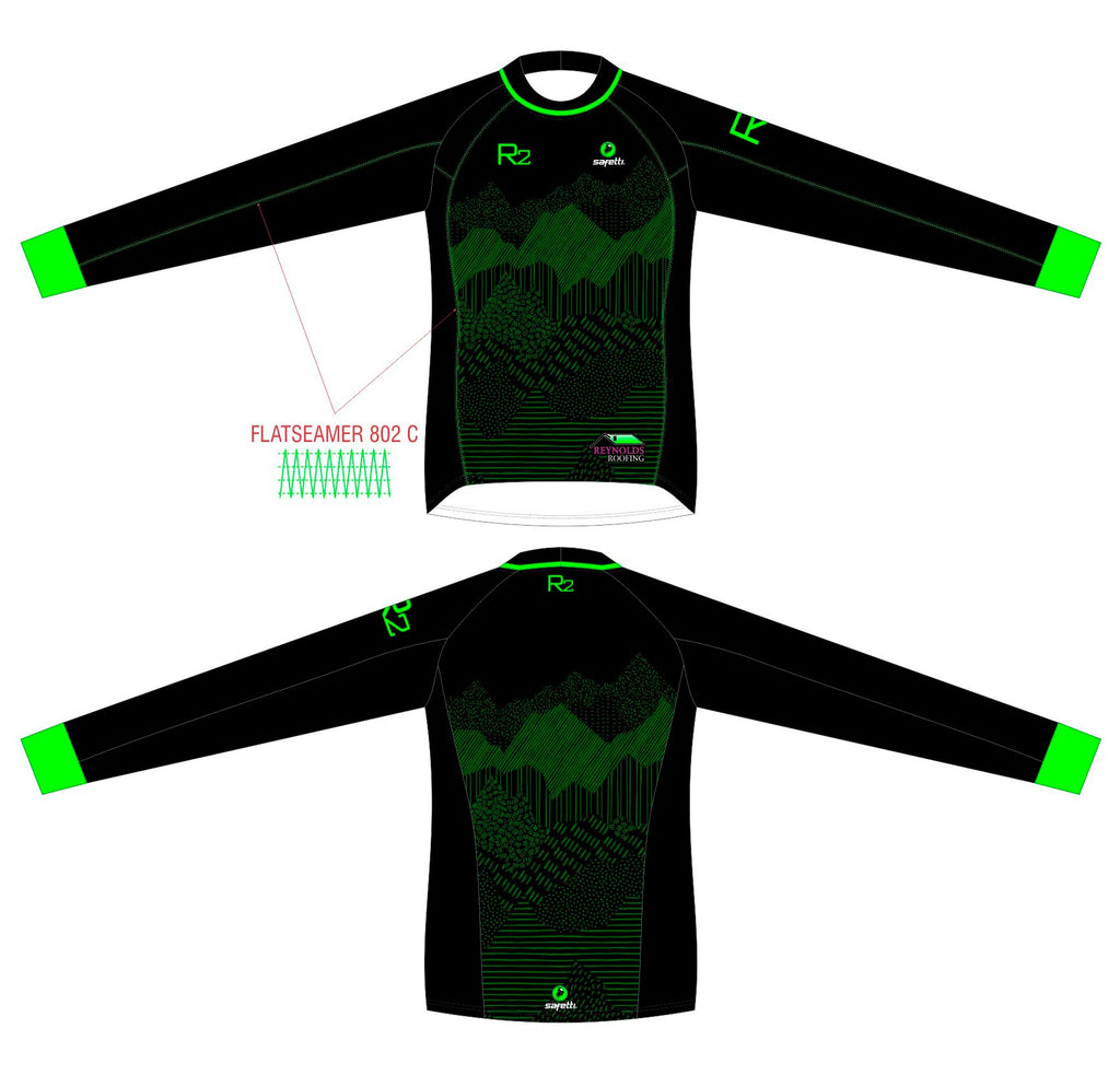 RR - BMX Long Sleeve Jersey Black/Green Men