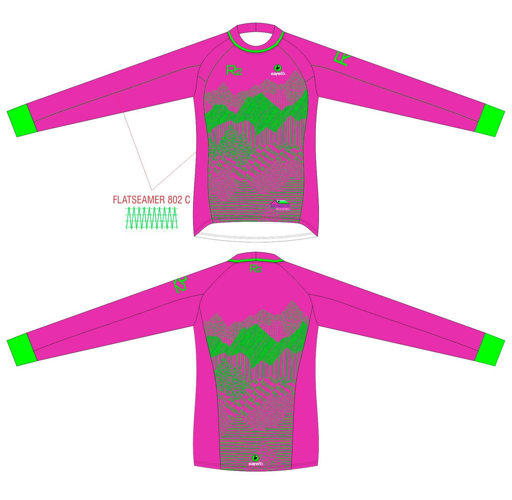 RR - BMX Long Sleeve Jersey Pink Junior