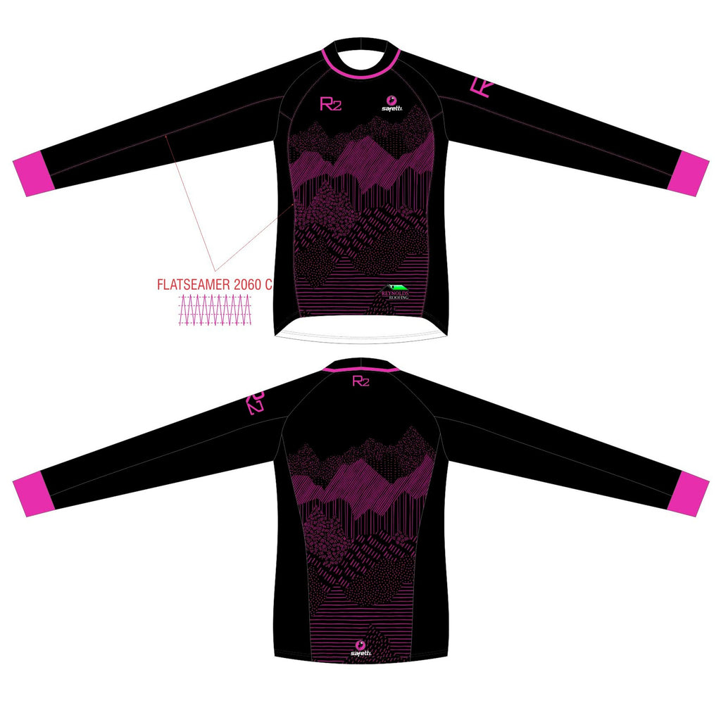 RR - BMX Long Sleeve Jersey Black/Pink Junior