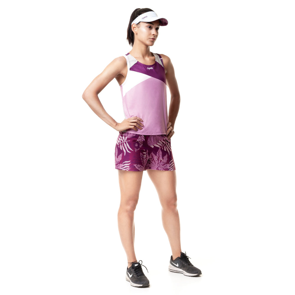 Sunset Running - Unbroken - Sleeveless Running Jersey. Women