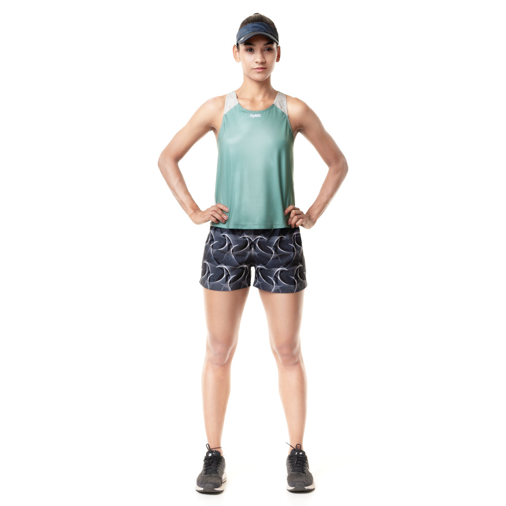 Sunset Running - Indomite - Sleeveless Running Jersey. Women