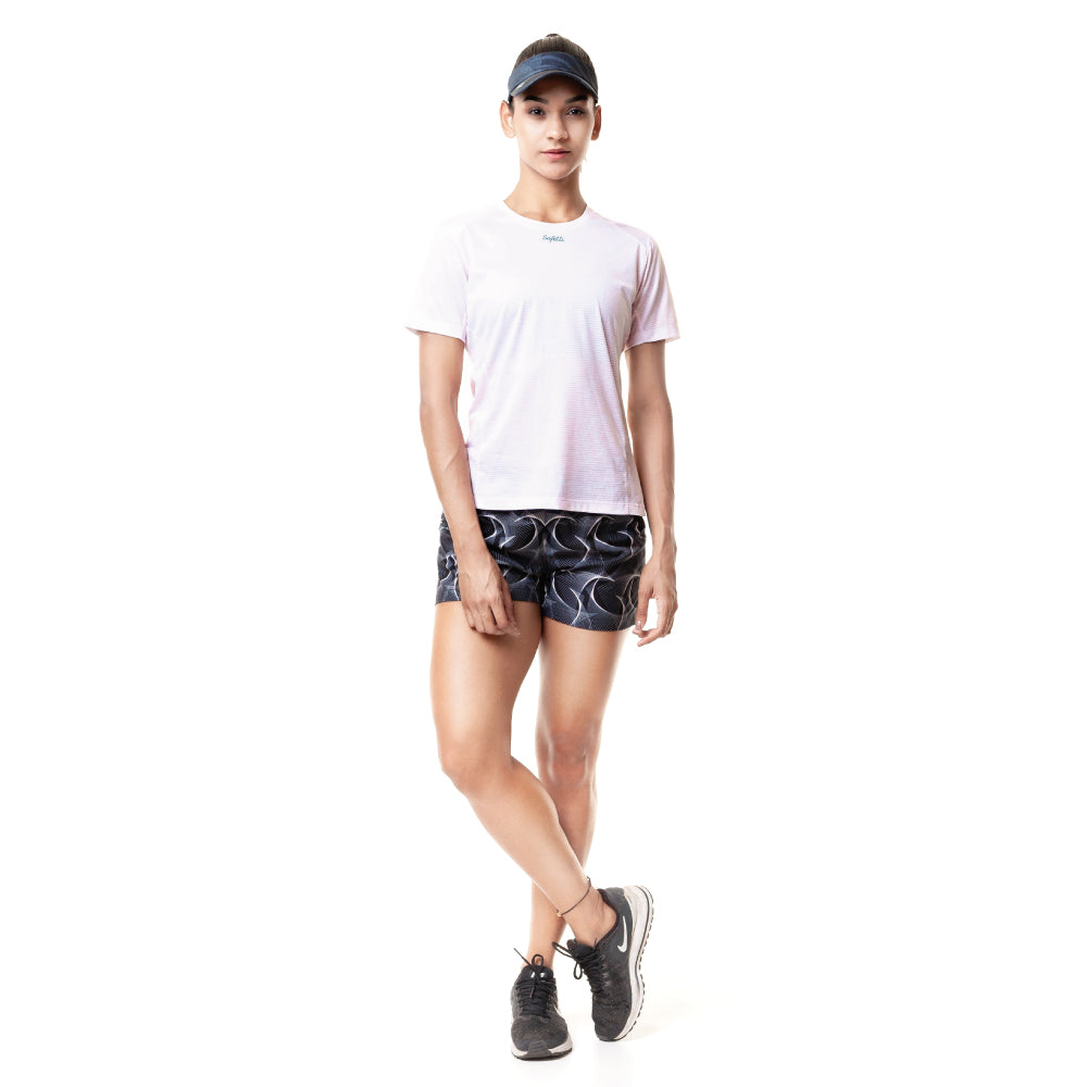 Sunset Running - Indomite - Short Sleeve Running Jersey. Women