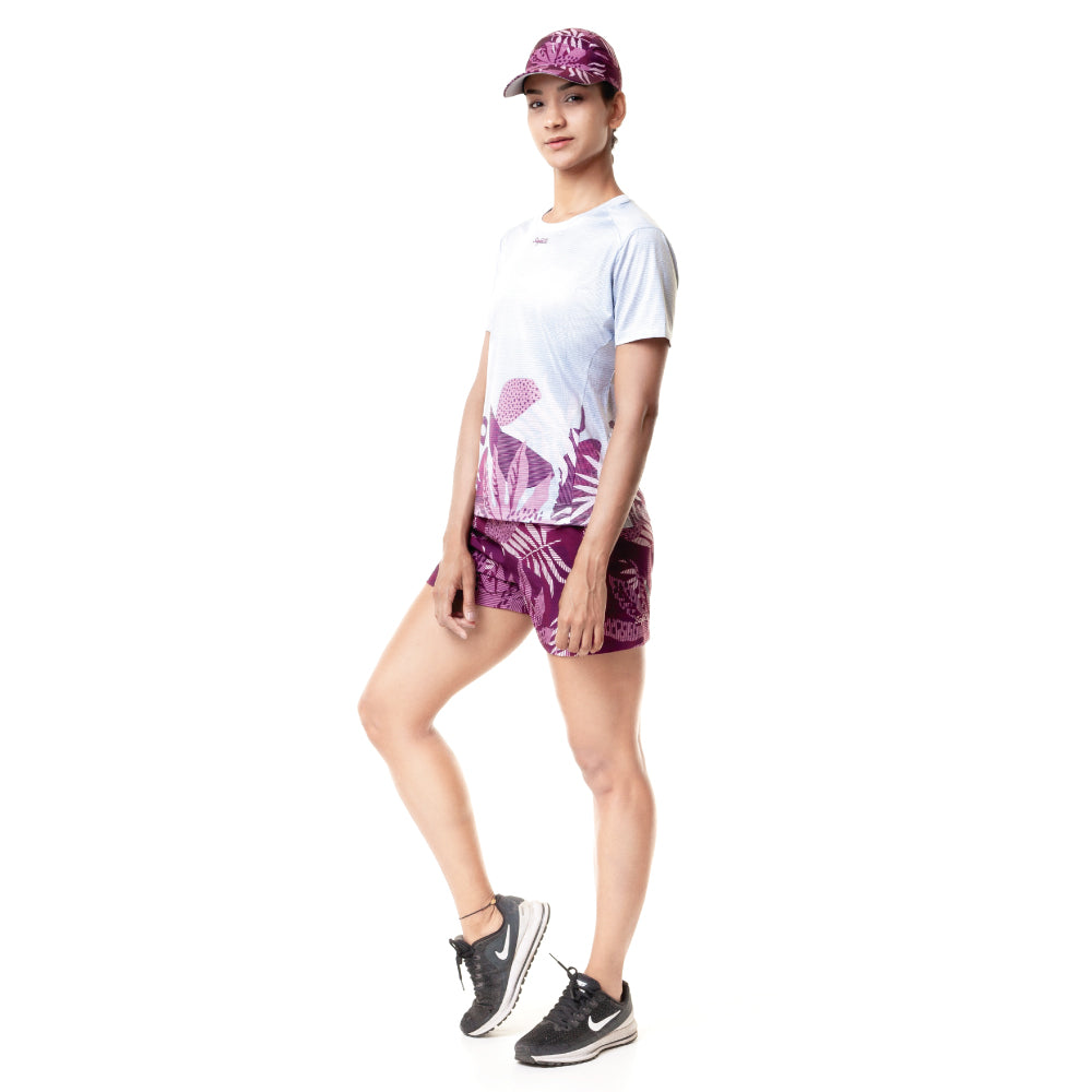 Sunset Running - Unbroken - Short Sleeve Running Jersey. Women