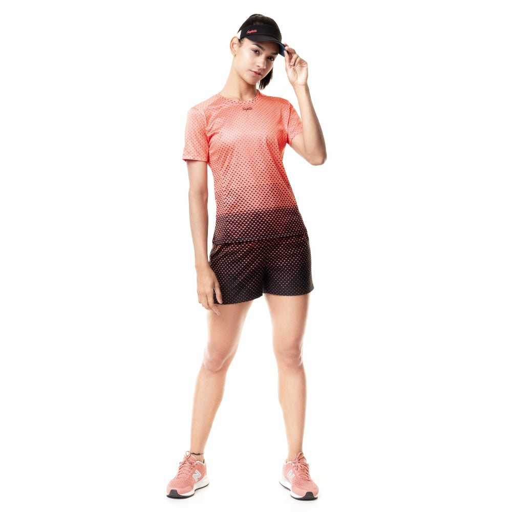 Sunset Running - Resilience - Short Sleeve Running Jersey. Women