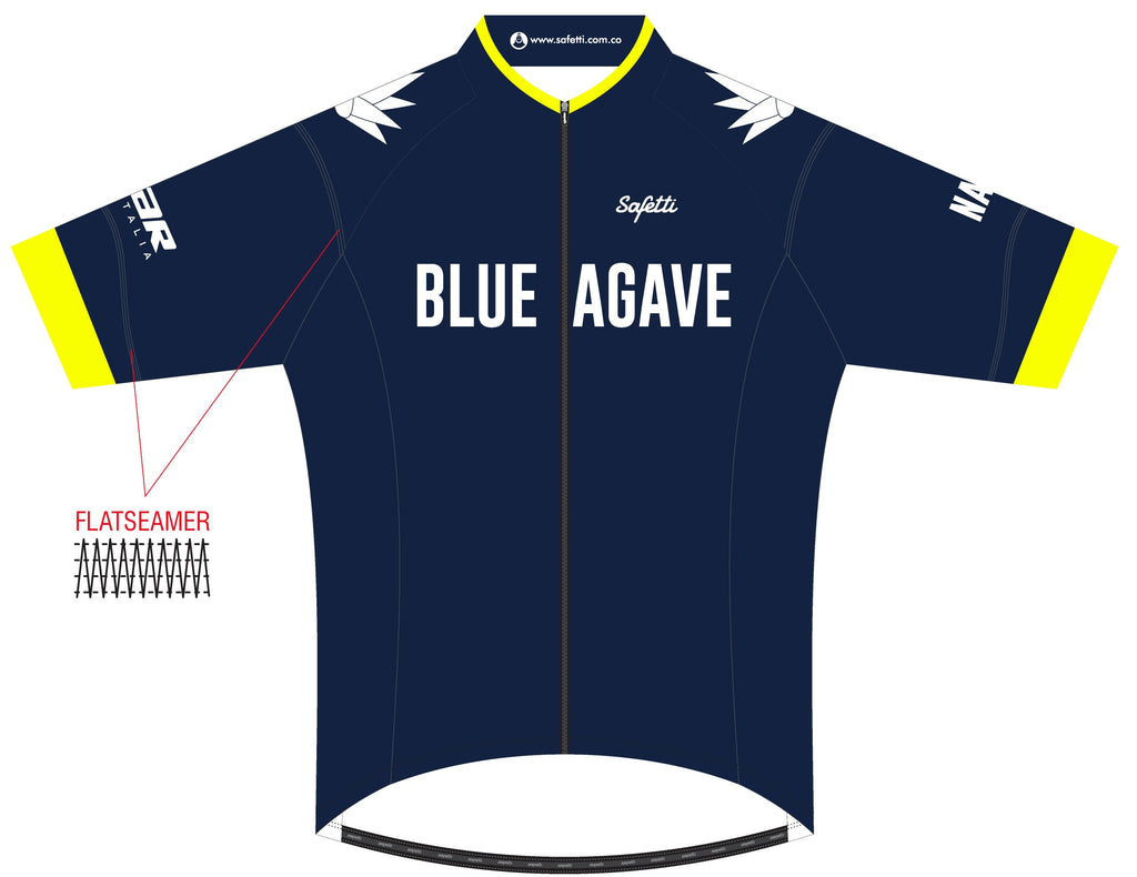 Blue Agave Cycling - DSG1 Blue. Skin Light Short Sleeve Cycling Jersey. Men
